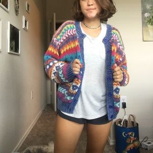CUTE vintage colorful sweater